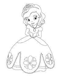 Coloriage Princesse Sofia à colorier  Dessin à imprimer  maguerite