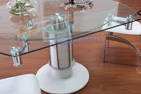 fancy expandable glass dining room table 96 about remodel home