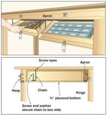 Woodworking Plans For Free Workbench by Space Saver Workbench Woodworking Plans And Information At