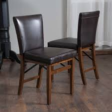 folding dining chairs lane bonded leather folding dining chair set of 2 by christopher