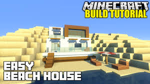 How To Build A Small House Minecraft How To Build A Beach House Tutorial Simple U0026 Easy