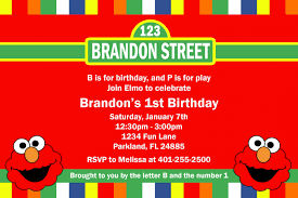sesame street invitations template elmo party invitations for your inspiration thewhipper com