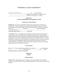 Free Lease Agreement Free California Commercial Lease Agreement Pdf Word Do It
