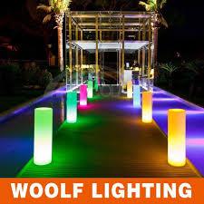 light decoration for wedding lighting pillars led glowing pillars for events led cylinder l