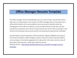 Office Manager Resume Example Office Manager Resume Template