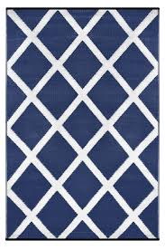 Recycled Plastic Rug Navy Blue And White Indoor Outdoor Rug Green Decore