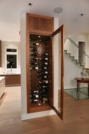 Temperature Controlled Wine Cellar - custom made temperature controlled built in wine rack