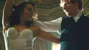 ed sheeran perfect video actress sheeran busts out the ballroom moves in thinking out loud video