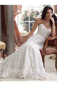 chapel wedding dresses flare mermaid strapless chapel vintage lace wedding dress