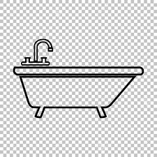 transparent bathtub bathtub line vector icon on transparent background royalty free