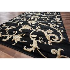 Discount Modern Rugs Brilliant Black And Gold Area Rug Rugs Home Design Ideas For