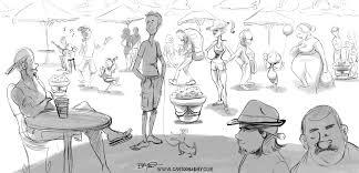 random starbucks people sketch cartoon cartoon