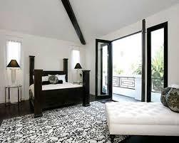 Black Poster Bed Black Bed White Furniture Light Blue Tufted Bed Headframe Black