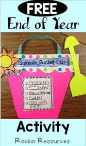 fun craft activity for the end of the year create a summer bucket