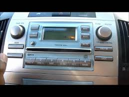 2005 toyota corolla verso cd player stereo youtube