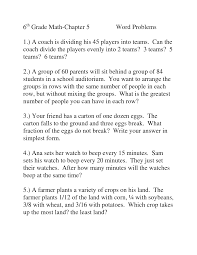 6th grade math word problem worksheets worksheets