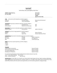 acting resume template microsoft word child acting resume sle actor template microsoft word rsum
