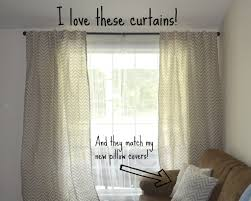 interior design grey and white chevron curtains matched with