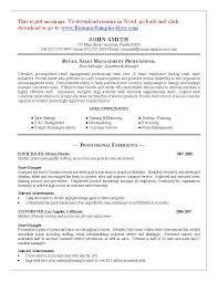 resume for retail district manager professional resumes example