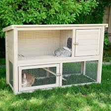 new age pet ecochoice columbia rabbit hutch u0026 reviews wayfair