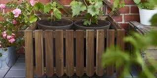 make a wooden planter trough garden planters