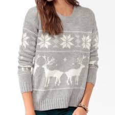 forever 21 sweaters gray and white fair isle
