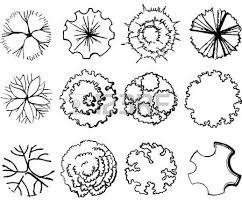 Symbols For - a set of treetop symbols for architectural or landscape design