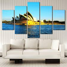 2017 no frame city landscape sydney hd canvas print 5 panel wall