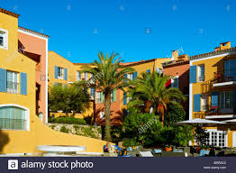 hotel byblos saint tropez provence france stock photo royalty