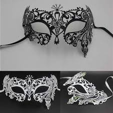 black and white masquerade mask aliexpress buy metals mask black white