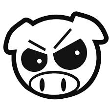 jdm subaru stickers jdm subaru pig angry decal sticker ballzbeatz com