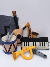 felt toys instruments includes 6 instruments felt bag