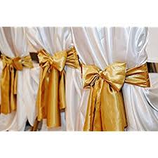 yellow chair sashes tm gold wedding satin chair sashes set of