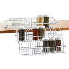 Flat Spice Rack Pull Out Spice Rack Rubbermaid Pull Down Spice Rack The