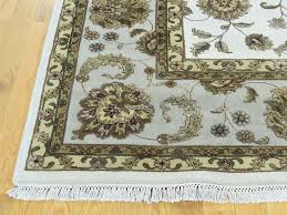 Hand Knotted Rugs India Rajasthan Hand Knotted Wool And Silk India Rug Sh32306