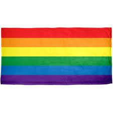 Multicoloured Flag Amazon Com Rainbow Pride Flag All Over Beach Towel Home