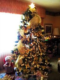 Blue And Silver Christmas Tree - deco mesh christmas tree ideas home design inspirations