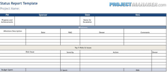 project status report template excel filetype xls status report template projectmanager