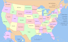 Huge Map Of The United States by Map Of Us With States Only At Maps