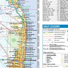 Map Of Panama City Beach Florida by Rand Mcnally Florida State Wall Map