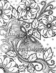 butterfly garden 2 1 coloring book printable instant