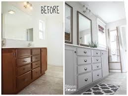 bathroom vanity makeover ideas master bathroom budget makeover builder grade to rustic