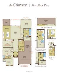 crimson home plan by gehan homes in tierra del rio hacienda series floor plans