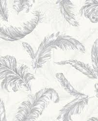 gilded feather white and silver wallpaper graham u0026 brown