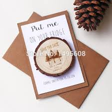 wedding magnets wooden slice save the date magnet rustic wedding magnets pine