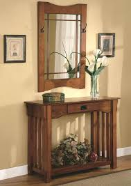 mission style console table entry table with mirror mission style entry way foyer console table