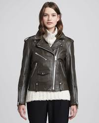 leather motorcycle jacket brands theory dylan leather motorcycle jacket in black lyst