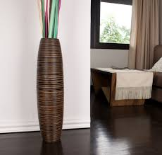 Large Vases For Home Decor Brown Tall Floor Vase 30 Inches Wood Brown Leewadee