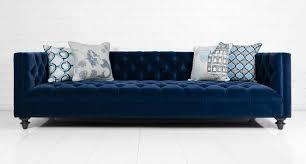 navy blue velvet sofa sofa in navy velvet i roomservicestore