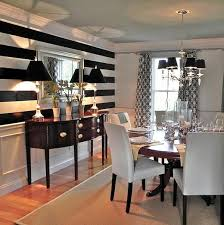 Black And White Striped Accent Chair Black And White Stripes In The Dining Room Interior Design